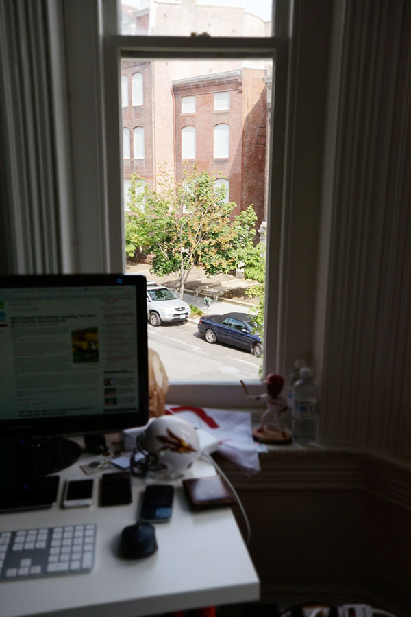 desk view